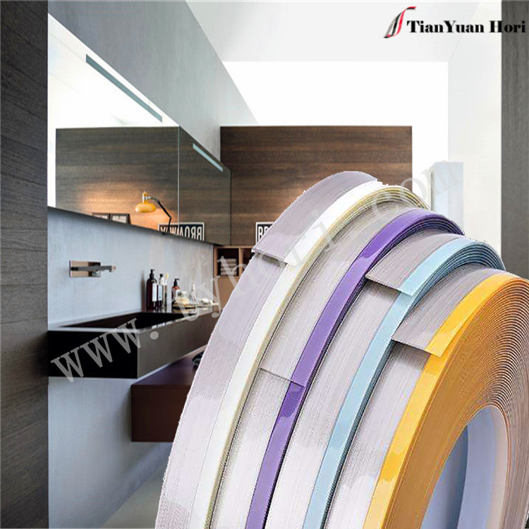 China manufacture Italy pvc edge banding plastic window edge trim