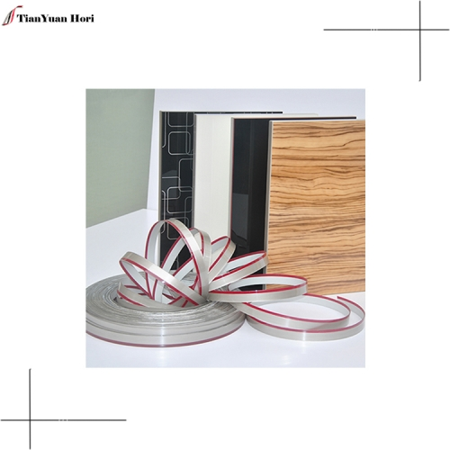 new design wooden single metal trim u shape countertop edge decorative furniture pvc edge banding