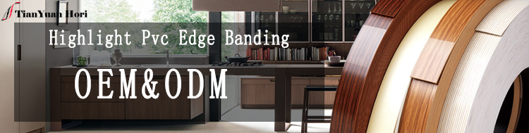 China supplier furniture cabinet highlight pvc edge banding