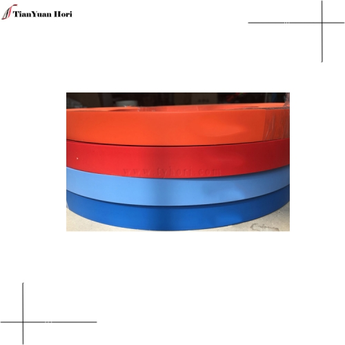 Chinese factory furniture decorative edging pvc wood veneer sheet edge trimming solid color pvc edge banding