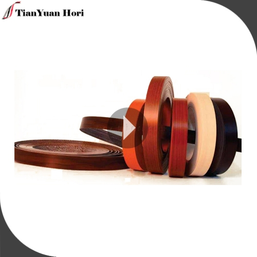 2018 China golden supplier edge banding pre-glue edge strips plastic wood grain edging trim