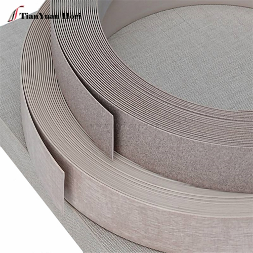 china supplier matt And embossing Finish pvc wood grain production edge banding