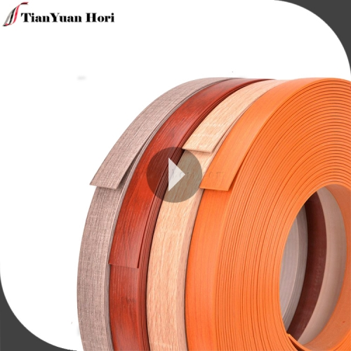 Hot selling products factory pre glued wood grain edge 22mm pvc wood grain edge banding tape