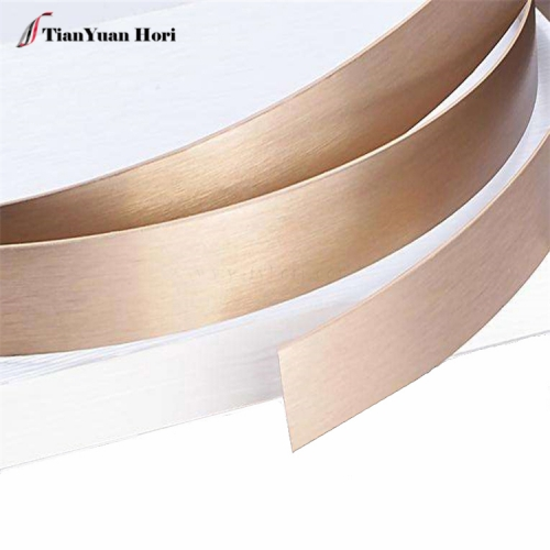 China environment protection plastic cabinet table wood grain edge banding
