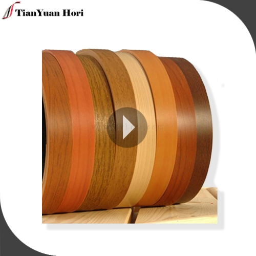 New design wooden single Canada pvc edge banding wood grain MDF pvc edge banding tape