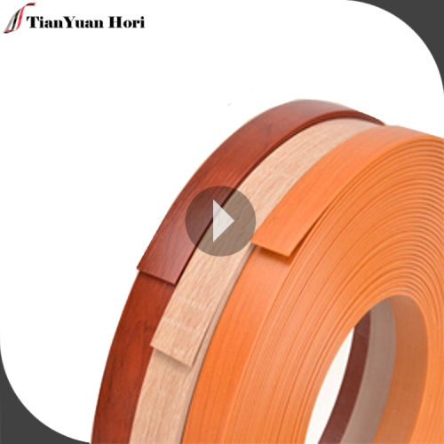 Hot selling products pvc acrylic edge banding tape wood grain pvc sheet edge trim