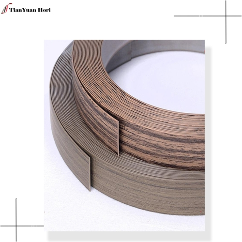 Hot sale wood grain cabinet edge tape wood grain pvc edge strips